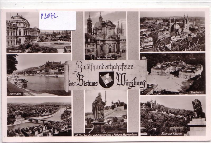 Zwölfhundertjahrfeier des Bistums Würzburg