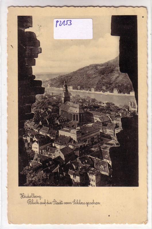 AK Heidelberg Blick auf die Stadt vom Schloss gesehen ungelaufen