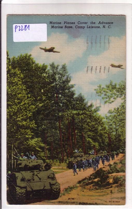 Marine Planes Cover the Advance Marine Base, Camp Lejeune N. C.