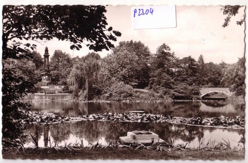 AK Wanne-Eickel Stadtgarten 1955 gelaufen