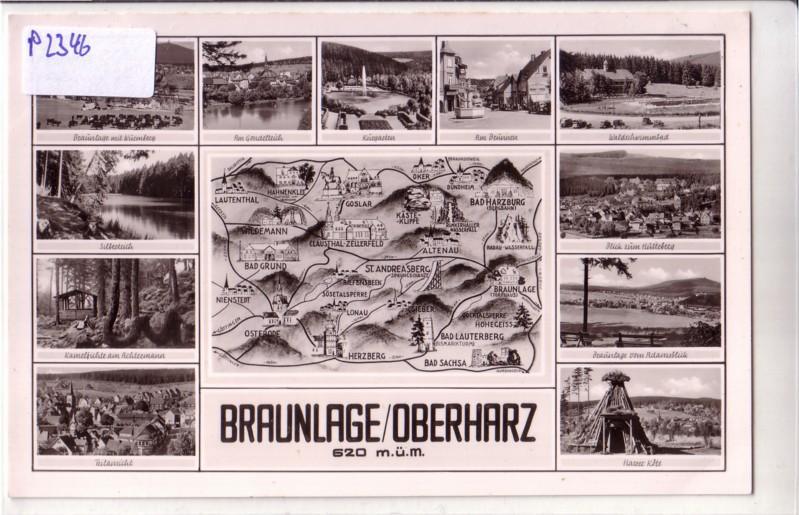 Braunlage Oberharz / Karte