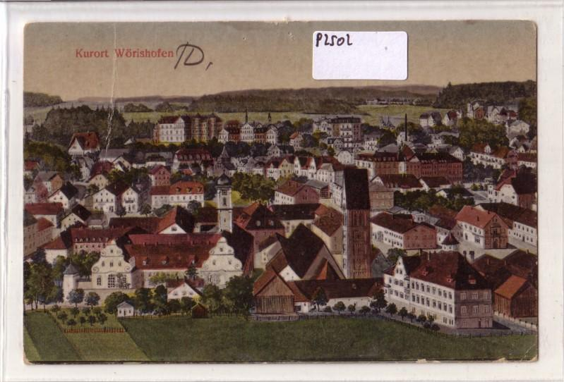 Kurort Wörishofen Bad Wörishofen Litho Lithografie