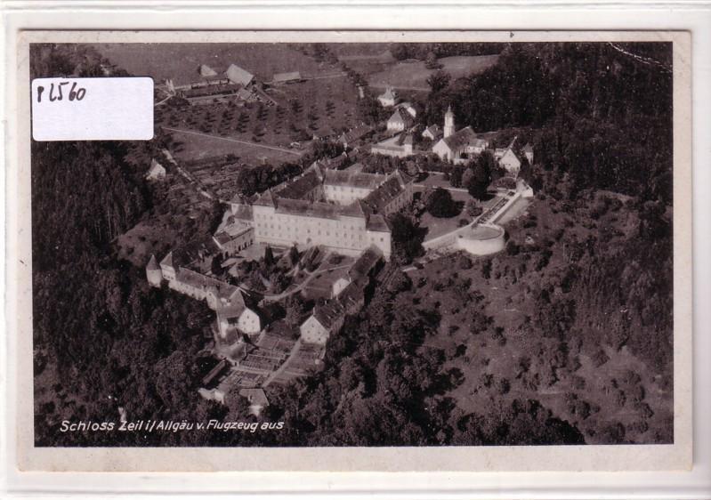 AK Schloss Zeil im Allgäu Luftbild 1946 gelaufen
