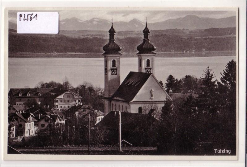 Tutzing Ortsansicht mit Kirche