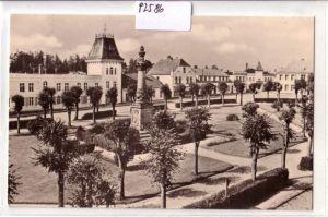 AK Putbus Rügen Marktplatz mit HO-Gaststätte Deutsches Haus 1965 gelaufen