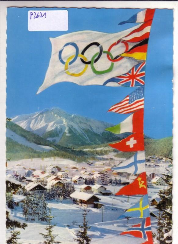 IX. Olympische Winterspiele 1964 Innsbruck Seefeld Olympia Fahnen Tirol