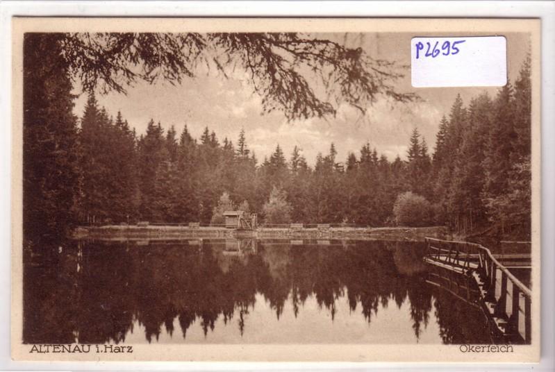Altenau im Harz Okerteich Holzgeländer