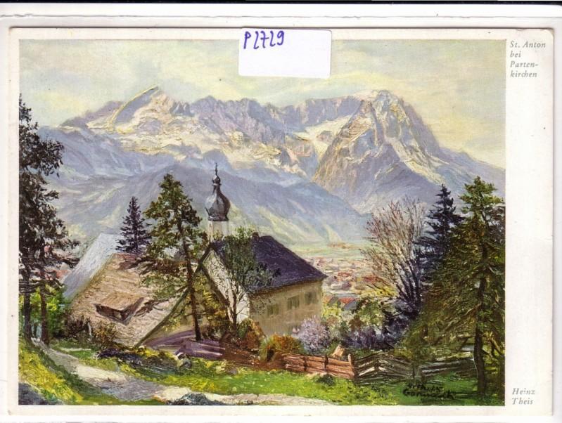 St. Anton bei Partenkirchen Heinz Theis Wiechmann-Bildkarten