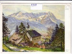 AK St. Anton bei Partenkirchen Künstlerkarte Heinz Theis 1960 gelaufen