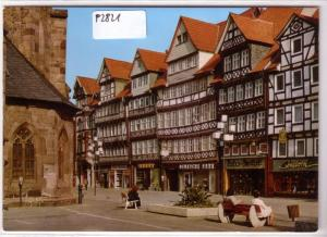 AK Hann. Münden 1975 Lange Straße Fachwerkhäuser Geschäfte ungelaufen