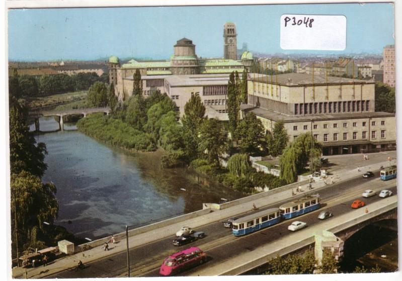 München Ludwigsbrücke und Deutsches Museum Straßenbahn