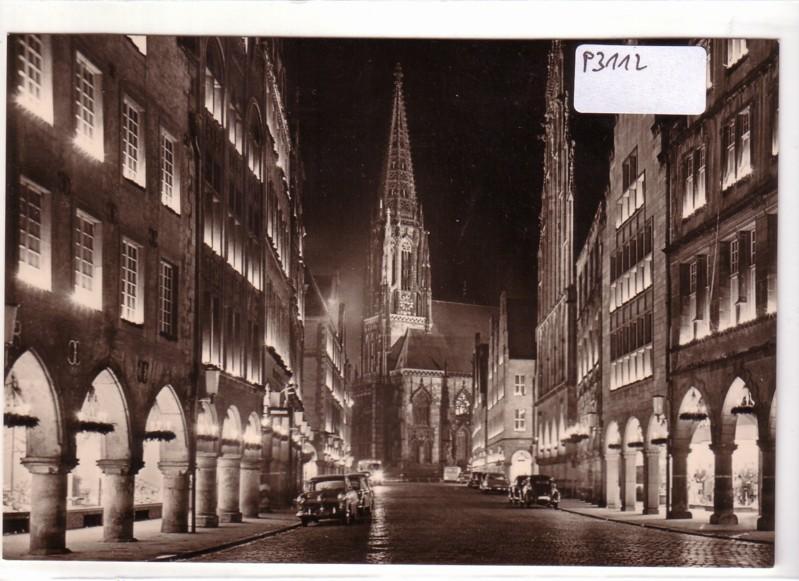 Münster Westfalen Prinzipalmarkt in der Weihnachtszeit