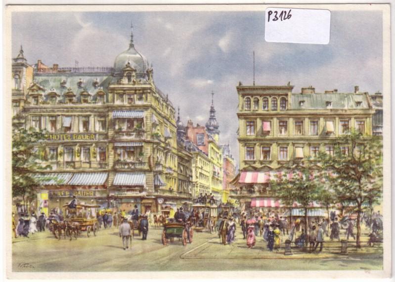 Das alte Berlin: Unter den Linden / Kranzlerecke