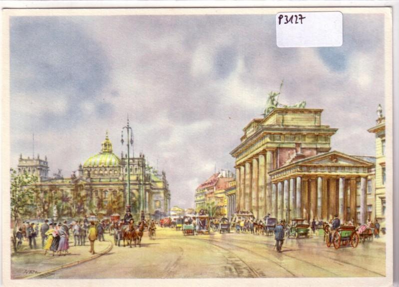 Das alte Berlin: Vor dem Brandenburger Tor