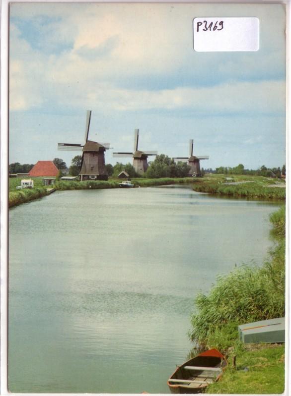 AK Niederlande Schermerhorn Poldermolens uit de Gouden Eeuw Strijkmolens ungelaufen