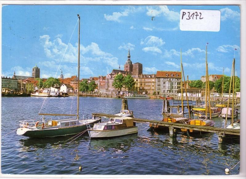 Stralsund Blick auf den Hafen