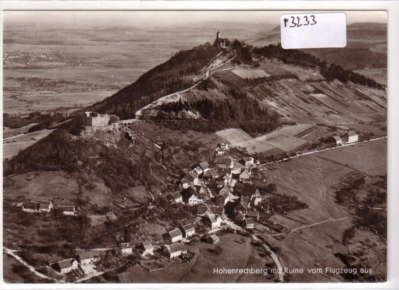 Hohenrechberg mit Ruine vom Flugzeug aus Luftbild Luftaufnahme
