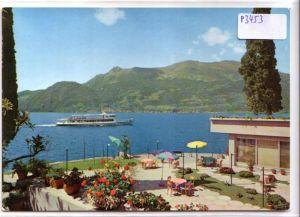 AK Italien Saluti dal Lago di Como Hotel Meridiana Bellano ungelaufen