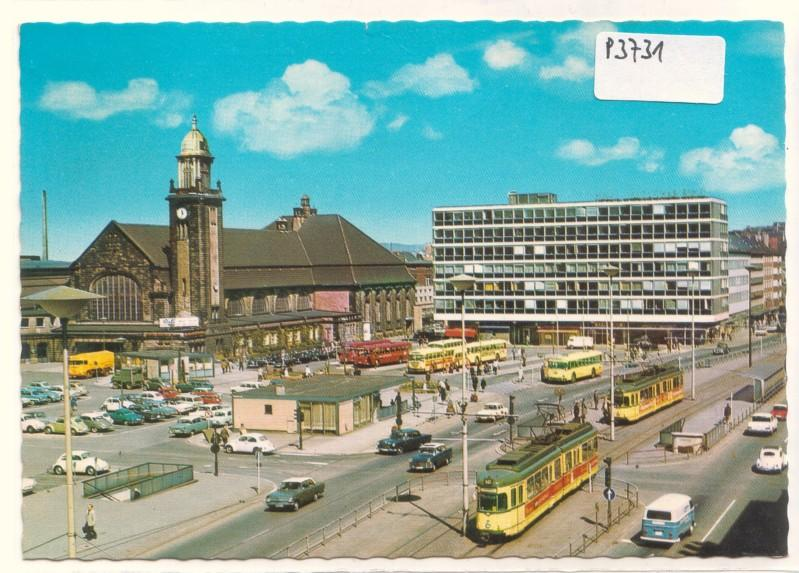 AK Hagen in Westfalen Hauptbahnhof 1971 gelaufen