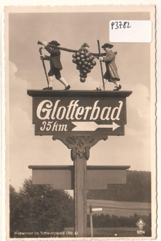 Glotterbad Wegweiser Schwarzwald