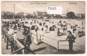 AK Blick von der Brücke Ahlbeck 1919 gelaufen