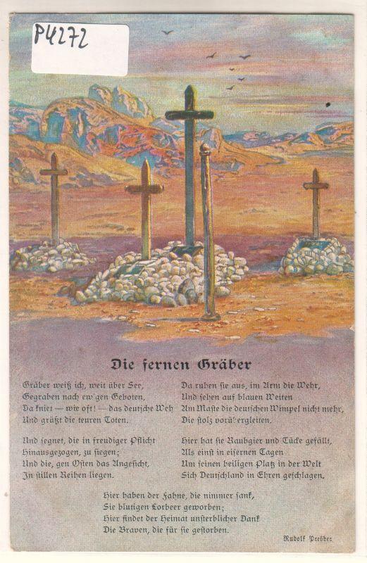 AK Deutsche Soldatengräber in Südwestafrika Nr. 1 Kolonialkriegerdank ungelaufen