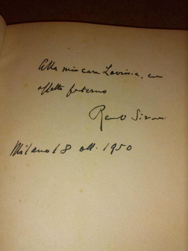 """LE COMMEDIE - Sprache: Italienisch - auf Vorsatz Widmung und Signatur des Autors """"Alla/Ulla mia casa(?)... Renato Simoni Milano 18 okt. 1950"""""" Simoni, Renato"
