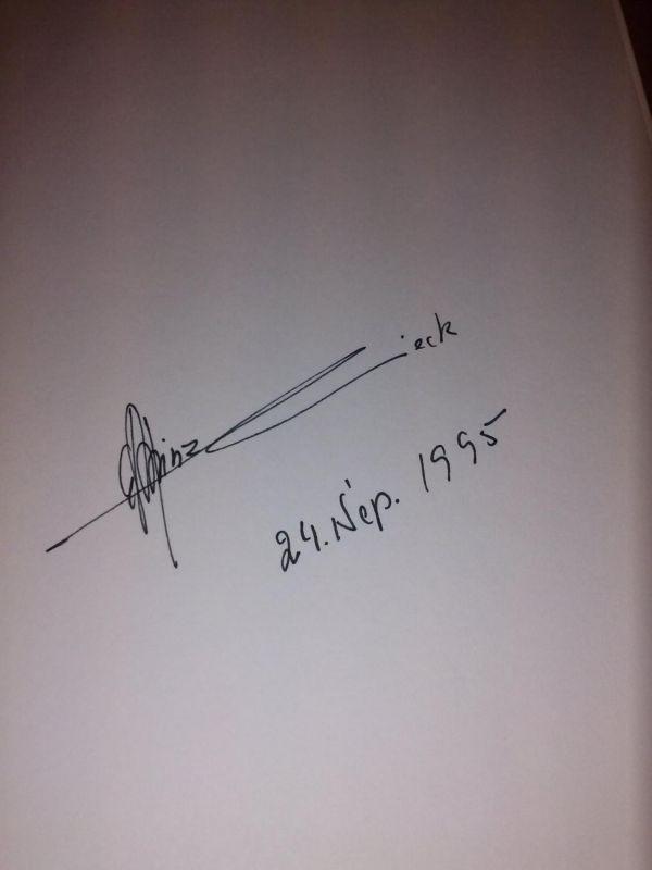 Der Künstler Carl-Heinz Lieck - im Vorsatz Signatur/Unterschrift des Künstlers 24. Sep. 1995 - cop. 1995 by Heinrich Walentowski, Werl Kaczmarek, Annette Ch.
