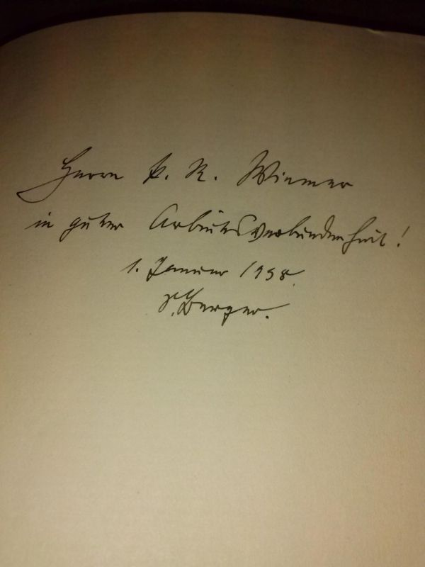 """""""Das Schmuckkästchen des Fräulein von Rhaden - Ein Ferienbuch - im Vorsatz Widmung und Unterschrift des Autors: Herrn ... in guter Arbeitsverbundenheit! 1. Januar 1938 S. Berger."""""""""""" Berger, Siegfried"""