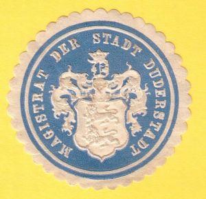 Siegelmarke Magistrat der Stadt Duderstadt