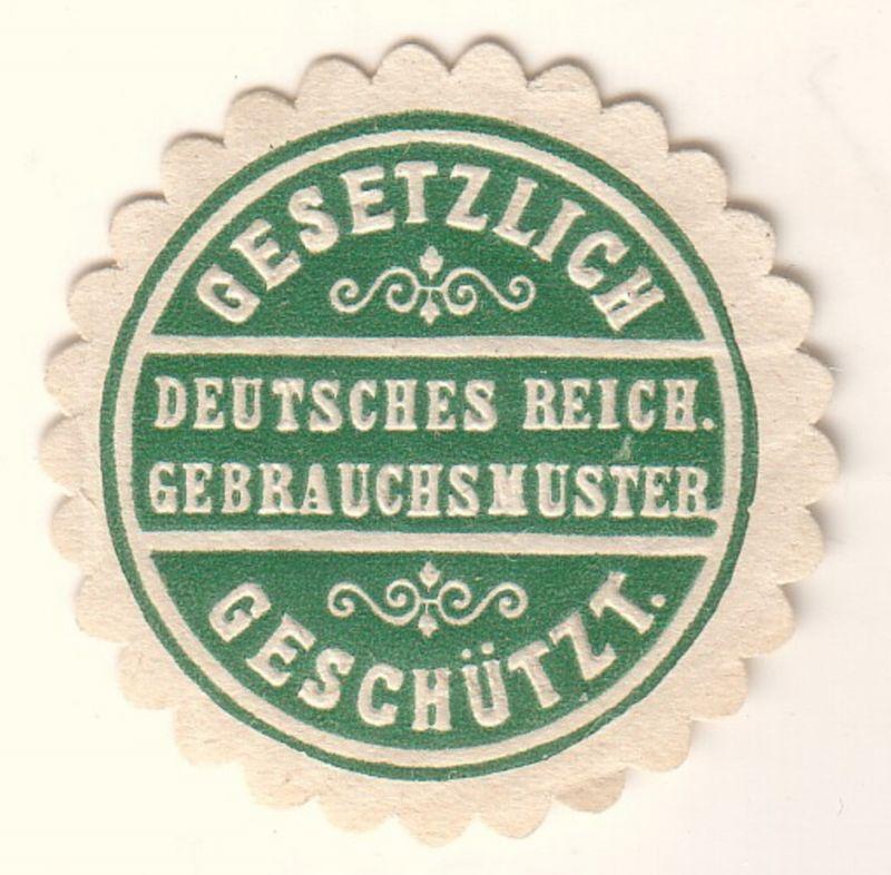 Deutsches Reich Gebrauchsmuster Gesetzlich geschützt