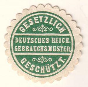 Siegelmarke Deutsches Reich Gebrauchsmuster Gesetzlich geschützt