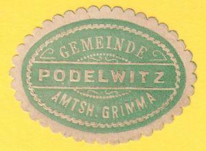 Siegelmarke Gemeinde Podelwitz Amtsh. Grimma
