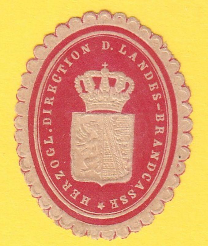 Herzogl. Direction d. Landes-Brandcasse
