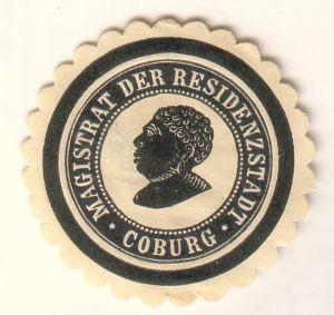 Siegelmarke Magistrat der Residenzstadt Coburg