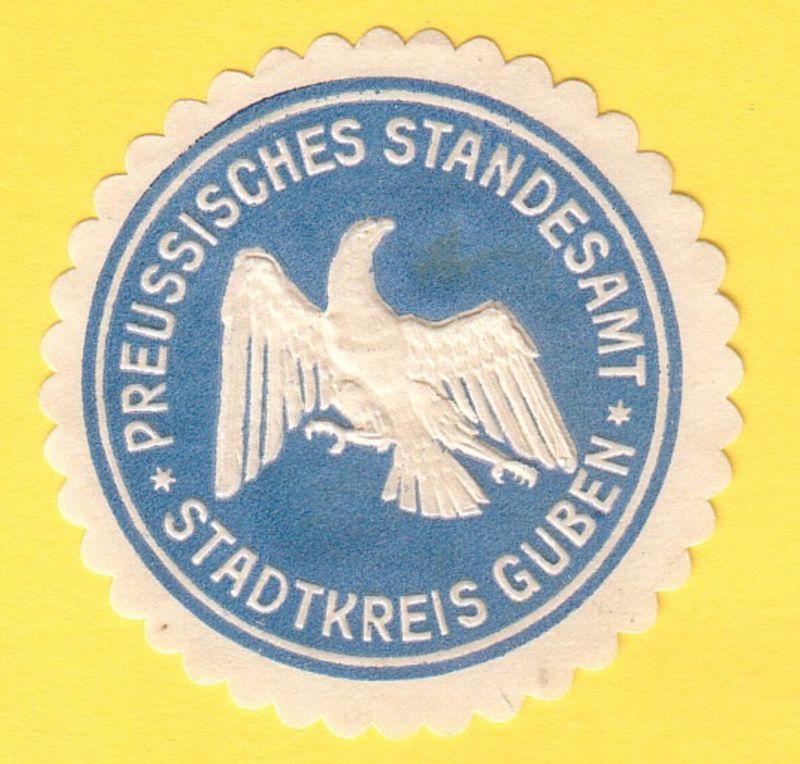 Preussisches Standesamt Stadtkreis Guben