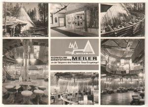 AK Konsum Gaststätte Meiler, Talsperre des Friedens Sosa, Erzgebirge, Mehrbildkarte, ungelaufen, wohl 1975 zu datieren