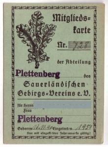 SGV Mitgliedskarte