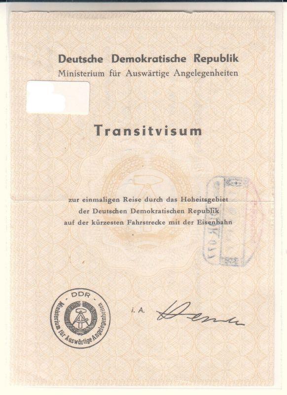 Transitvisum DDR
