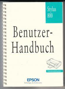 Epson Stylus 800 Handbuch