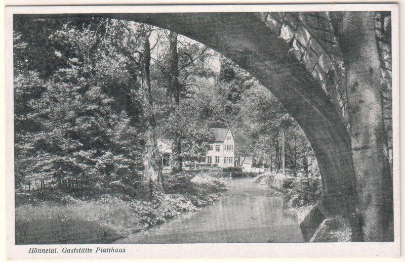 Ansichtskarte Postkarte AK Hönnetal, Gaststätte Platthaus, 58675 Hemer - postalisch ungelaufen, eventuell 1944 zu datieren