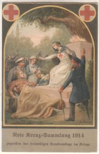 AK Rote Kreuz-Sammlung 1914 zugunsten der freiwilligen Krankenpflege im Kriege, ungelaufen