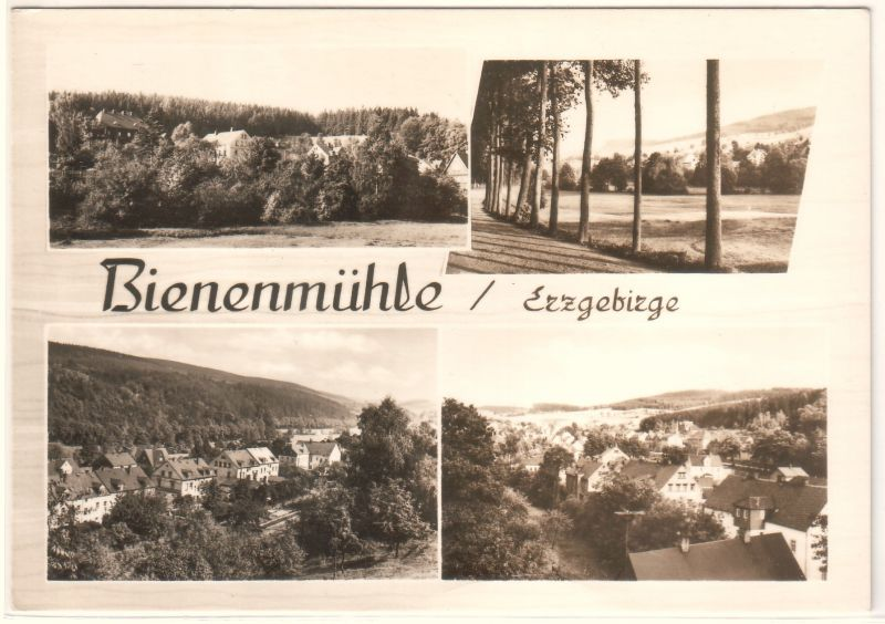 AK Bienenmühle Erzgebirge Mehrbildkarte Rechenberg-Bienenmühle - postalisch ungelaufen