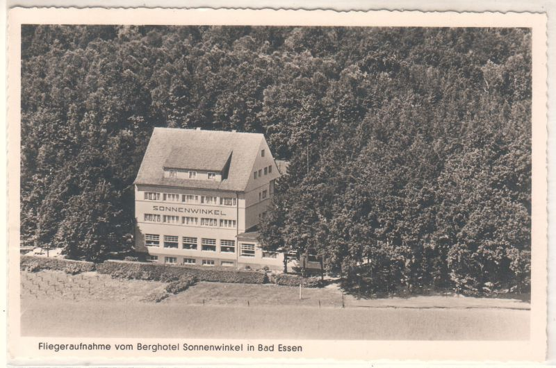 AK Bad Essen Berghotel Sonnenwinkel K. H. Witthuhn Luftbild Fliegeraufnahme
