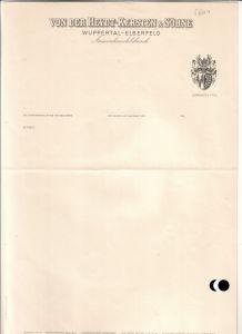 Schreiben/Rechnung (BLANKO) Außenhandelsbank von der Heydt-Kersten & Söhne Wuppertal-Elberfeld