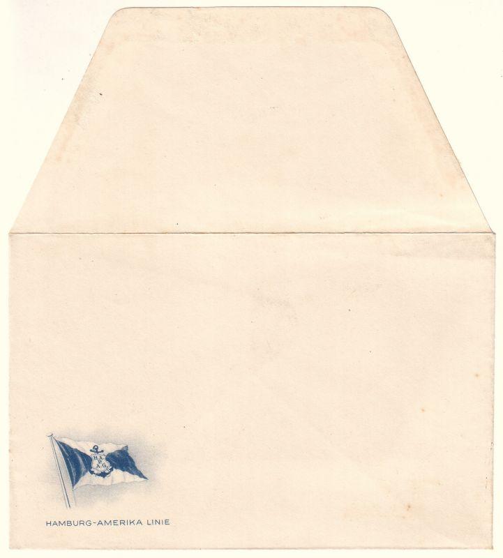 Briefumschlag Briefkuvert der Hamburg-Amerika Linie [HAPAG] ohne Aufdrucke und ohne Inhalt. Hamburg-Amerika Linie / HAPAG