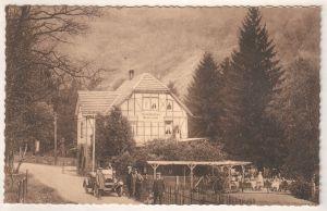 AK Werbekarte Waldhotel Restaurant pres du Lac Urft Barrage de la Vallee Urft Propr. Wilhelm Arens, OHNE Adresszeilen