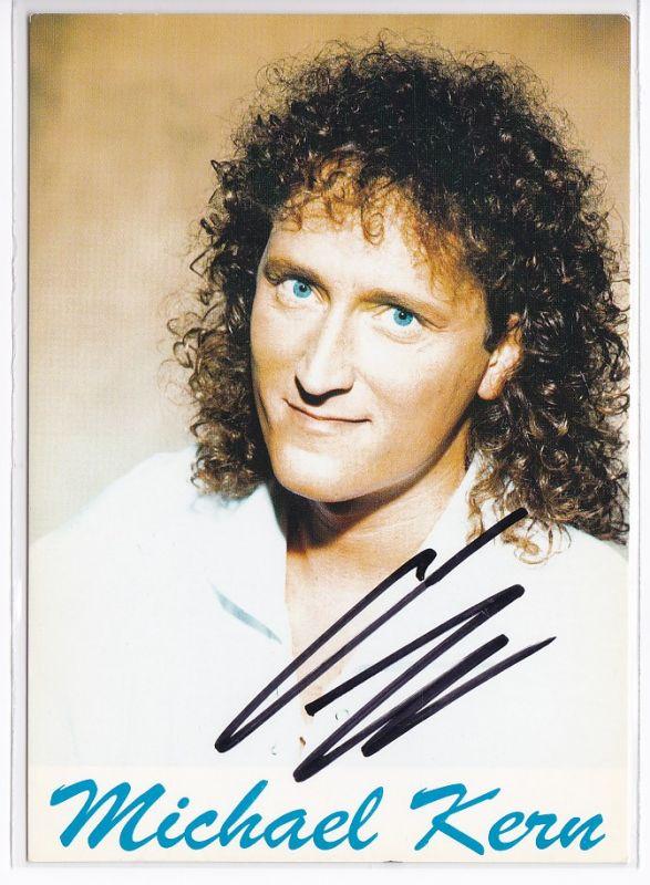 Autogrammkarte Michael Kern signiert Diskographie