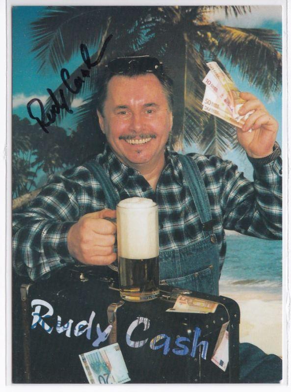 Autogrammkarte Rudy Cash signiert Diskographie