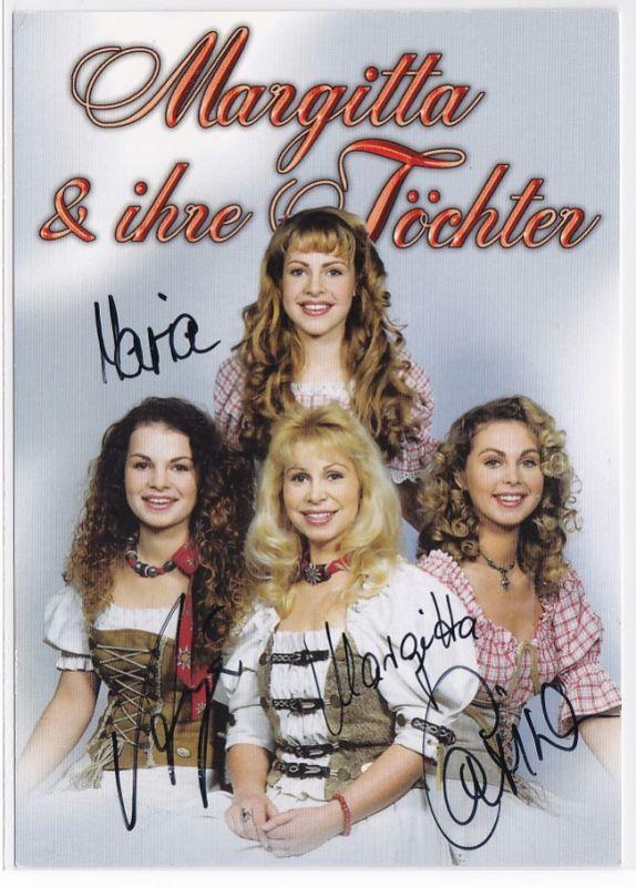 Autogrammkarte Margitta & ihre Töchter signiert Diskographie